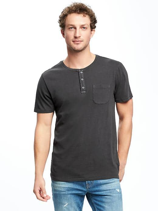 Men's T-Shirt with Button(29)