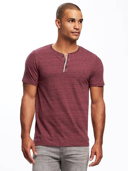 Men's T-Shirt with Button(28)